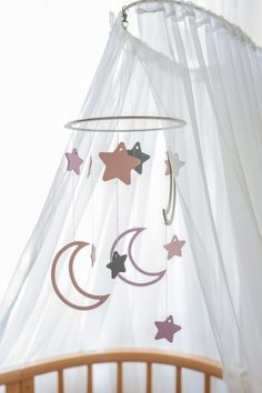 Moon stars mobile - Moon and stars baby mobile - Stars mobile - Crib mobile - Moon baby mobile - Moon and stars baby - Baby mobile girl Moon Nursery, Star Nursery, Baby Girl Nursery Decor, Baby Room, Unique Baby Gifts, Baby Girl Gifts, Pink Gold Nursery, Star Mobile, Girl Cribs