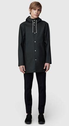 31d76c91 Bohemian Dandy - Stutterheim Stockholm Black Black Raincoat, Raincoat Jacket,  Rain Jacket, Stutterheim