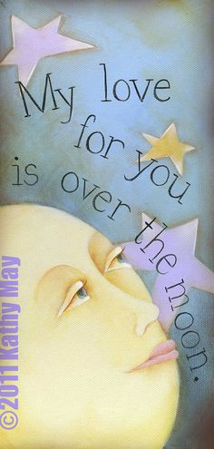 My Love for You is Over the Moon by KathyMayDesigns on etsy
