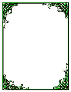 Celtic Knot Border Green Stationery Frame Border Design, Page Borders Design, Wicca Witchcraft, Pagan, Painting Glass Jars, Glass Art, Celtic Border, Celtic Images, Stained Glass Patterns Free