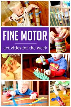 A week of simple fine motor activities to do with the kids! Fine Motor Activities For Kids, Preschool Learning, Sensory Activities, Infant Activities, Educational Activities, Early Learning, Preschool Activities, Teaching, Children Activities