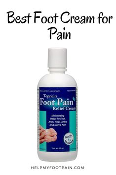 Having issues with foot pain, plantar fasciitis, or any other muscle or joint pain. You might want to try a pain relief cream. What Causes Arthritis, Arthritis Treatment, Foot Pain Relief, Muscle Pain Relief, Natural Pain Relief, Best Foot Cream, Ankle Pain, Sage Essential Oil