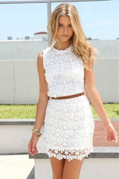 sexy hollow out lace dress #sexydresses #lacedresses #summerdresses #freeshipping