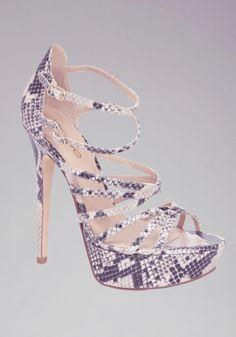 bebe   Sandra Python Strappy Sandals - View All