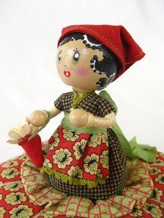 Pick-a-Lily Pincushion Doll.....introducing Lily Maida. $60.00, via Etsy.
