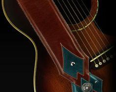 Correa de guitarra marrón Cruz correa por EthosCustomBrands en Etsy