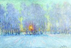 1915.  Russian post-Impressionist painter Igor Grabar.