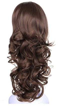 OneDor Curly Head Lady Japanese Synthetic Kanekalon Hair Wig with Combs Kanekalon Hair, Buy Wigs, Half Wigs, Synthetic Wigs, Wig Hairstyles, Curly Hair Styles, Cap, Youtubers, Mesh