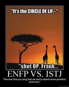 ENFP vs ISTJ