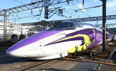 Evangelion Shinkansen '500 Type Eva' launched on Nov 7 2015; Sanyō Shinkansen, Japan.  ☆エヴァンゲリオン・コラボ 山陽新幹線  博多-新大阪間 始動。