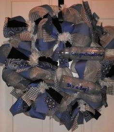 It's a Boy! Custom made wreath --Reel Sassy Wreaths