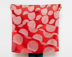 Dots furoshiki (rust) Japanese eco wrapping textile/scarf, handmade in Japan