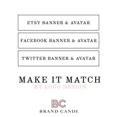 Make it Match Logo Design Custom Design Branding by BrandCandi
