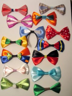 Any 5 Mini Hair Bows Disney Inspired by bulldogsenior08 on Etsy, $12.00