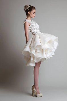 19 Sweetest Short Wedding Dresses You'll Love - Krikor Jabotian Fall 2013