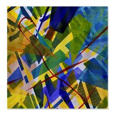 The City I Shower Curtain #showercurtain #abstract #blue