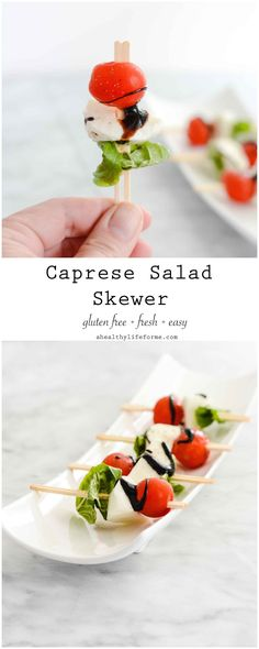 Caprese Salad Skewers - A Healthy Life For Me