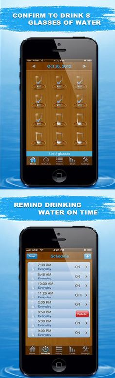 This app reminds you to drink enough water every day.