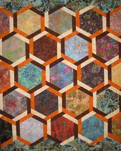interlocking hexagons quilt