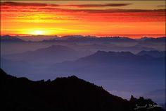 Sunrise over Italian Alps