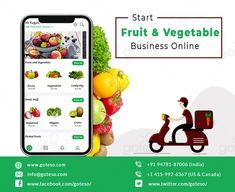 re you planning to start an online fruit and vegetable business? Best on-demand fruit and vegetable delivery app development company can give you best suggestions. #fruits #vegetables #business #produce #organic #entrepreneurs #online #store Online Fruits And Vegetables, Fruits Online, Grocery Ads, Online Grocery Store, Vegetable Packaging, Fruit Packaging, Grocery Delivery App, Delivery Food, Fresh Fruit Delivery