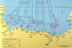 Map: D-Day Allied Forces Invasion of Normandy, June 6, 1944.