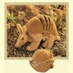 Armadillo Stuffed Animal by Folkmanis Puppets