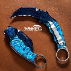 I just wanna know... who agrees that this 1 of a kind Karambit Featuring mammoth tooth and mosaic damascus by Bloodline Blades is BAD ASS!? For sale soon on karambit.com...