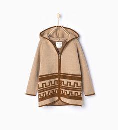 ZARA - KIDS - Knit jacket with hood