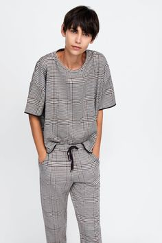6f1f1eca58 Image 4 of CHECKED JOGGING TROUSERS from Zara