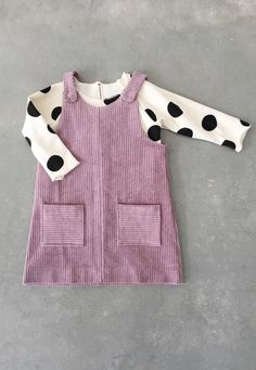 Handmade Baby Toddler Corduroy Pinafore Dress | SunnyAfternoon on Etsy