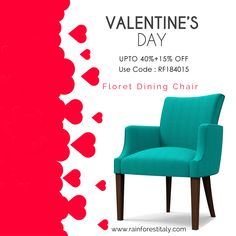 This Valentine gift your loved one this beautiful Floret Dining Chair & Get off now. Luxury Dining Chair, Wooden Dining Chairs, Kitchen Chairs, Dining Chair Set, Dining Room Furniture, Dining Table, Chair Design, Valentine Gifts, Beautiful