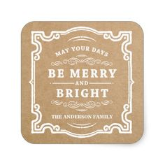 Classic Christmas | Holiday Gift Tag Labels Stickers