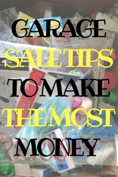 Spring cleaning and getting rid of the junk in you house can make you a ton of money. Throw a killer garage sale with these best garage sale tips to make the most money. Learn what dates and times to pick, how to set up, and what you don't want to forget. Garage Sale Signs, Garage Sale Pricing, Yard Sale Signs, For Sale Sign, Mojito, Garage Sale Organization, Organizing, Benefit Sale, Sell Your Stuff