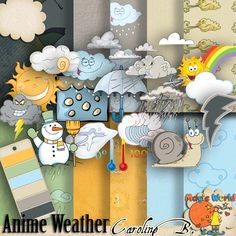 Anime Weather - $3.99 : Caroline B., My Magic World of Digital Design