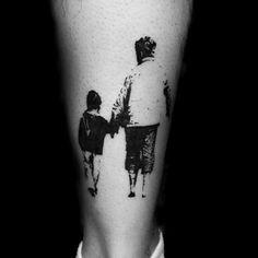 Guys Ankles Father Son Bonding Family Tattoo