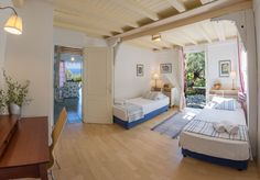Interior design of villa Kiparissi! Island Life, Bunk Beds, Islands, Greece, Twin, Villa, Loft, Interior Design, Bedroom