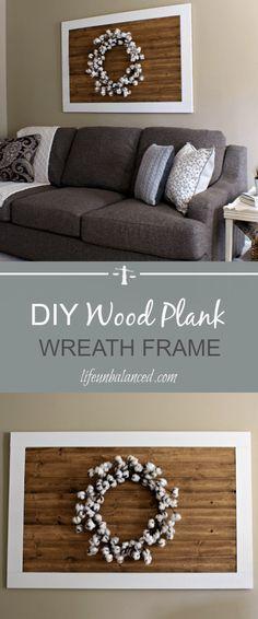 DIY Wood Plank Wreath Frame Farmhouse Style Wreath Frame