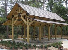 Timber frame pavilion.