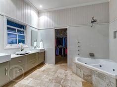 63 Vardon Street, Wilston // Mario Sultana #bathroom #bathroominspiration #homeinspiration #neutral #tiles #sink #home #homedecor #brisbane #queensland #realestate #inspiration #homedecorate #realestate #realtor #brisbanerealestate #decorator #interiordesign #modern #crisp #light #open #space