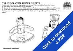 Nutcracker Finger Puppets - The Sugar Plum Fairy and the Nutcracker Solider.