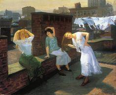 John French Sloan  1912 Sunday, Women Drying Their Hair