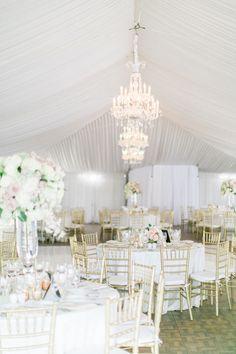 Elegant + traditional tented wedding reception: http://www.stylemepretty.com/california-weddings/san-diego/2015/11/08/traditional-elegant-fairytale-wedding-in-san-diego/   Photography: Troy Grover - troygrover.com