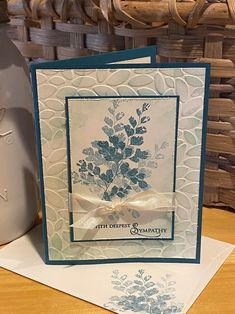 Leaf Cards, Hand Stamped Cards, Embossed Cards, Beautiful Handmade Cards, Stamping Up Cards, Cool Cards, Quick Cards, Get Well Cards, Card Sketches