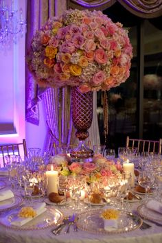 Wedding Reception Decorations Centerpieces | Gorgeous Wedding at Oheka Castle!