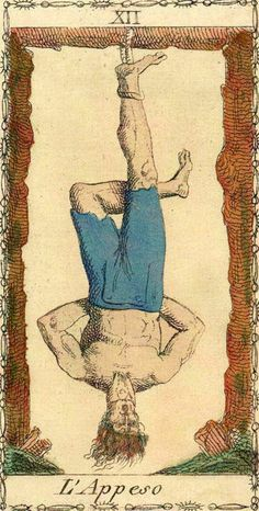 The Hanged Man - Ancient Tarot of Lombardy
