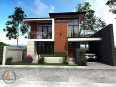 Unique Country House Plan With Four Bedrooms And Three Bathrooms - House And Decors Two Story House Design, 2 Storey House Design, Small House Design, Modern House Design, Modern Style Homes, Modern Bungalow, Duplex House Plans, House Floor Plans, Modern Architectural Styles