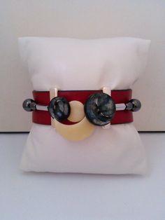 Bracelet 3 rangs,pièce unique et fait main : Bracelet par les-creations-uniques-de-michel-nala Creations, Belt, Michel, Etsy, Vintage, Bracelets, Accessories, Fashion, Handmade