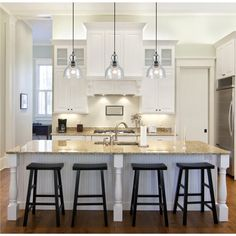 lighting for kitchen islands | ... kitchen-island-kitchen-island- & Kitchen Island Lighting Guide. How many lights? How big? How high ...