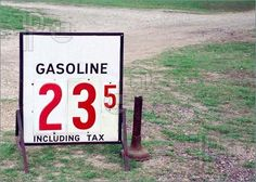 The price of gas in 1965.